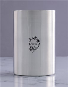 gifts: Personalised Flora Realistic Silver Ice Bucket !