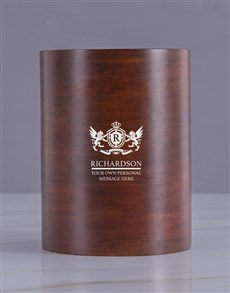 gifts: Personalised Crest Wooden Ice Bucket !