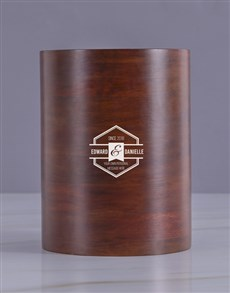 gifts: Personalised Couples Vintage Wooden Ice Bucket!