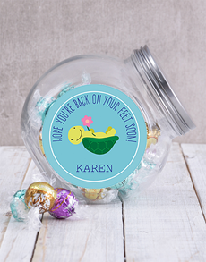 flowers: Personalised Back on Your Feet Candy Jar!