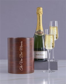 gifts: Personalised Elegant Surname Wooden Ice Bucket !