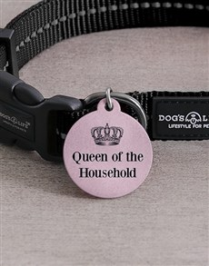 gifts: Personalised Queen ID Tag And Collar!