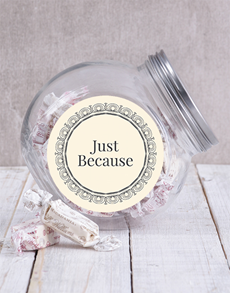 gifts: Candy Jar with Personalised Message!