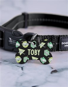 gifts: Personalised Dinosaur ID Tag And Collar!