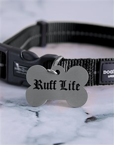 gifts: Personalised Ruff Bone ID Tag And Collar!