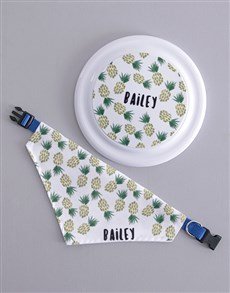 gifts: Personalised Pineapple Frisbee And Bandanna !
