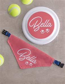 gifts: Personalised Paw Frisbee And Bandanna!