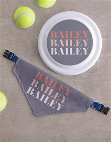gifts: Personalised Name Frisbee And Bandanna!