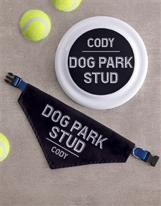 gifts: Personalised Park Frisbee And Bandanna!