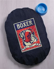 gifts: Personalised Boxer Denim Bed And Bowl!