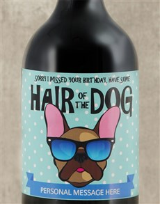 gifts: Personalised Hair of the Dog Red Wine !