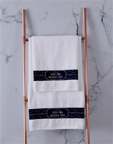 gifts: Personalised Coastal White Towel Set!