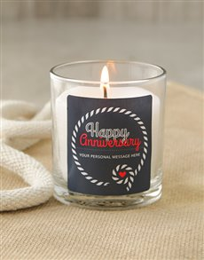 gifts: Personalised Anniversary Knotted Rope Candle!