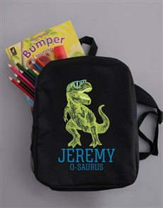 gifts: Personalised Trex Boys Backpack!