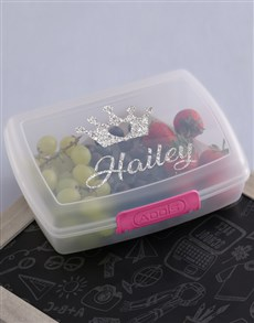 gifts: Personalised Princess Girls Lunch Box!