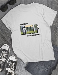 gifts: Personalised Golf Champs Shirt!