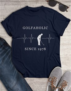 gifts: Personalised Golfaholic Shirt!