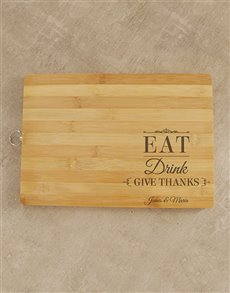 gifts: Personalised Give Thanks Chopping Board!