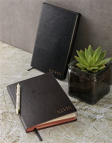 gifts: Personalised Name Gilded Notebook!