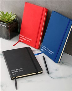 gifts: Personalised Message A5 Notebook!