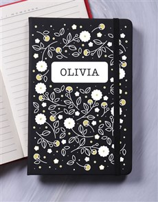 gifts: Personalised Blossom A5 Notebook!