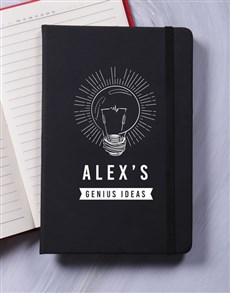 gifts: Personalised Genius A5 Notebook!