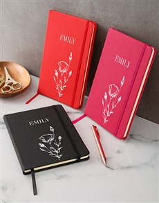 gifts: Personalised Botanical A5 Notebook!