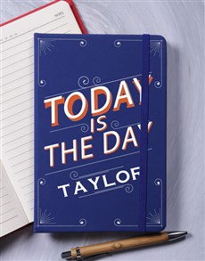 gifts: Personalised Today A5 Notebook!