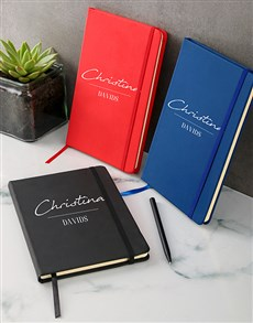 gifts: Personalised Classic A5 Notebook!