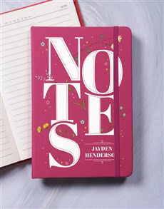 gifts: Personalised Notes A5 Notebook!