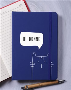 gifts: Personalised Cat A5 Notebook!