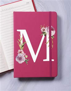 gifts: Personalised Rose Initial Notebook!
