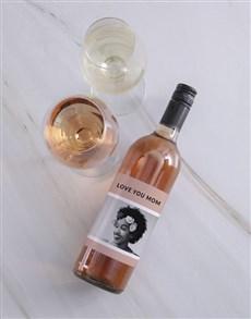 gifts: Personalised Vintage Pink Photo Wine!