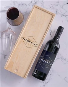 gifts: Personalised Fathers Day Wine In Crate!