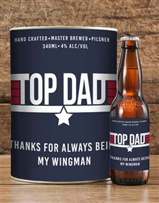 gifts: Personalised Top Dad Craft Beer!
