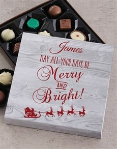 gifts: Personalised Merry & Bright Tray!