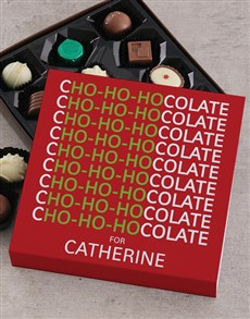 gifts: Personalised Ho Ho Chocolate Tray!