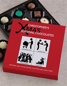 gifts: Personalised Xmas Survival Chocolate Tray!