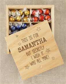 gifts: Personalised All Mine Lindt Box!