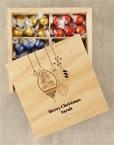 gifts: Personalised Merry Christmas Lindt Box!