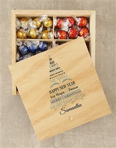 gifts: Personalised Christmas Tree Lindt Box!