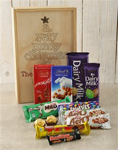 gifts: Personalised Very Merry Chocolate Crate!