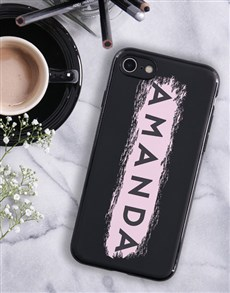gifts: Personalised Brushstroke Black iPhone Cover!