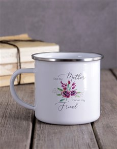 gifts: Personalised Mother And Friend Floral Camper Mug!
