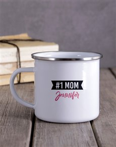 gifts: Personalised Number One Mom Camper Mug!