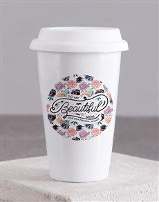 gifts: Personalised Beautiful Mom Ceramic Travel Mug!