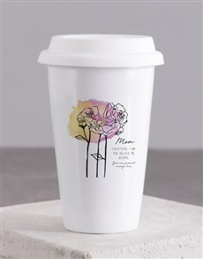gifts: Personalised Mom Ceramic Travel Mug!