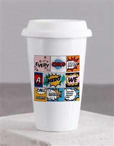 gifts: Personalised Hero Daddy Ceramic Travel Mug!