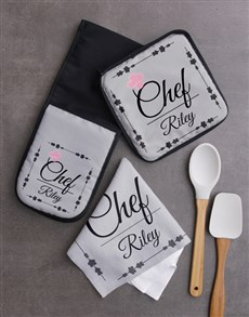 gifts: Personalised Chef Kitchen Set!