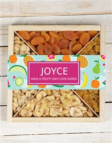 gifts: Personalised Mixed Fruit And Nut Tray!